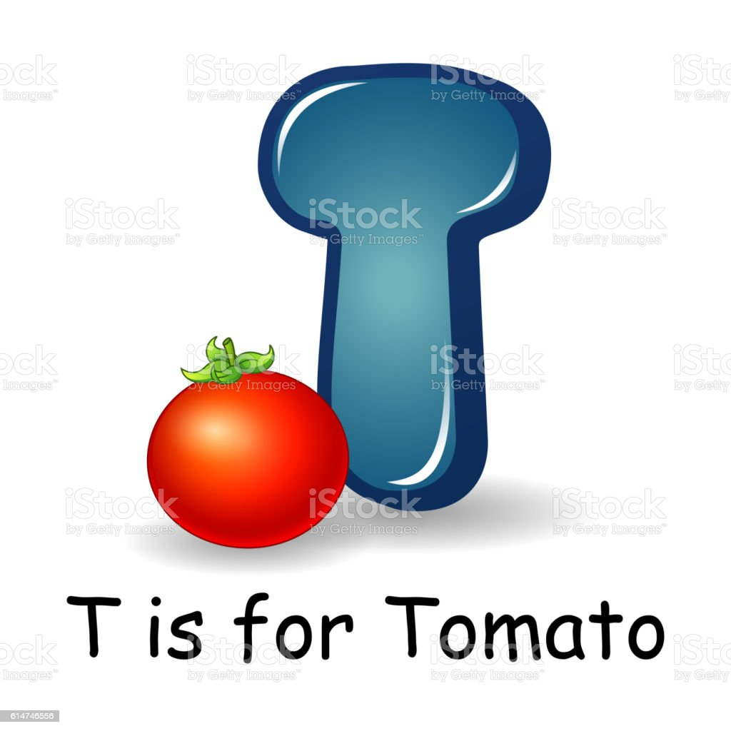 Vegetables Alphabet T Is For Tomato Royalty Free