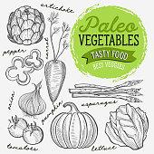 Vegetables illustration for paleo diet