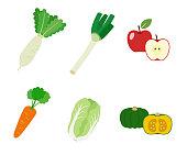 秋と冬の果物野菜
