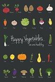 Vegetables cartoon vector