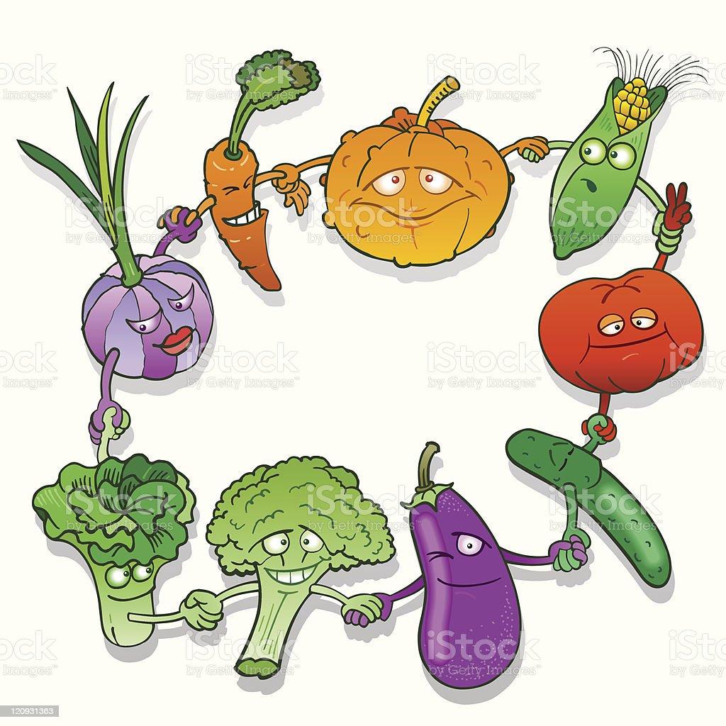 Vegetables Dance royalty-free stock vector art