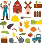 Vegetables farm vector illustration