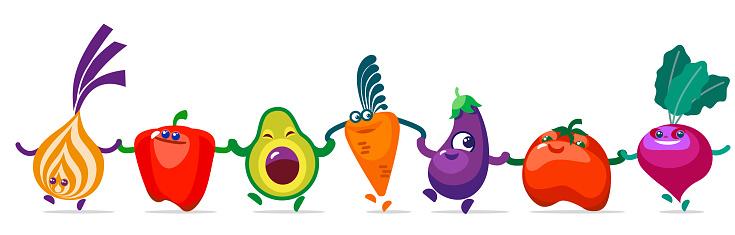 vegetables going