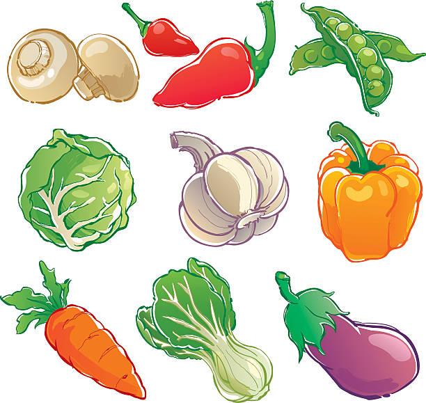 野菜のアイコン ベクターアートイラスト