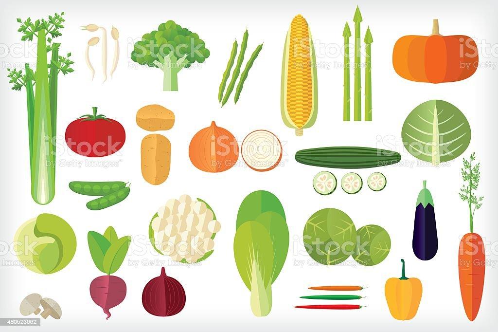 Vegetables icon vector art illustration