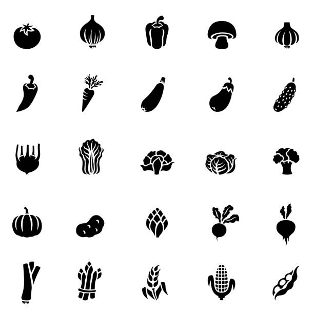 Vegetables icon Vegetables icon radish stock illustrations