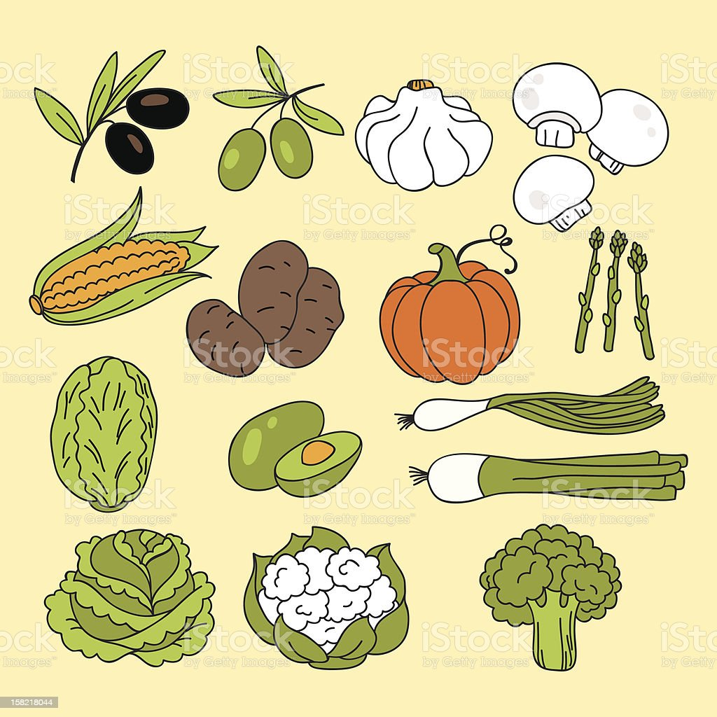 Vegetables icons royalty-free vegetables icons stock vector art & more images of agriculture