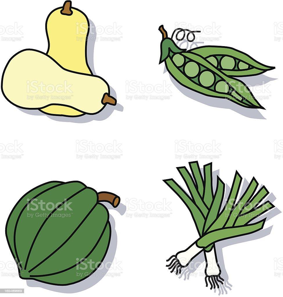 vegetables icons vector art illustration