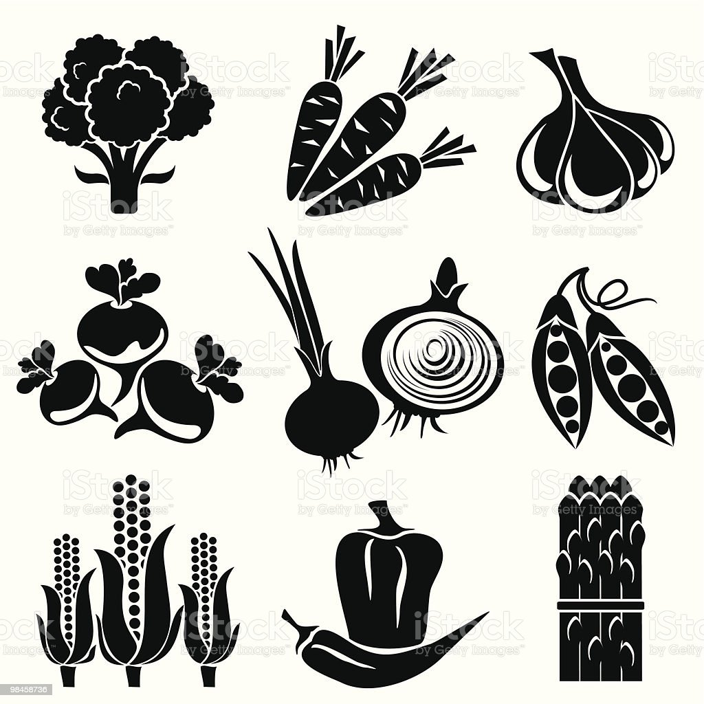vegetables icons royalty-free vegetables icons stock vector art & more images of asparagus