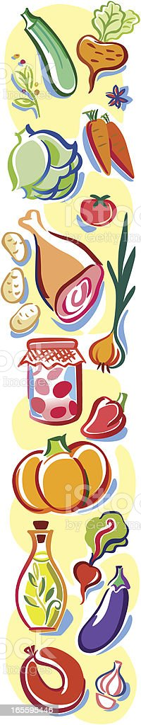 Vegetables ornamental border royalty-free vegetables ornamental border stock vector art & more images of abundance