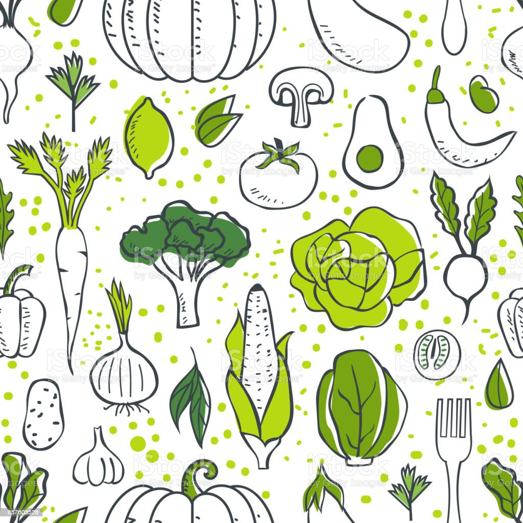 Motif de légumes - Illustration vectorielle