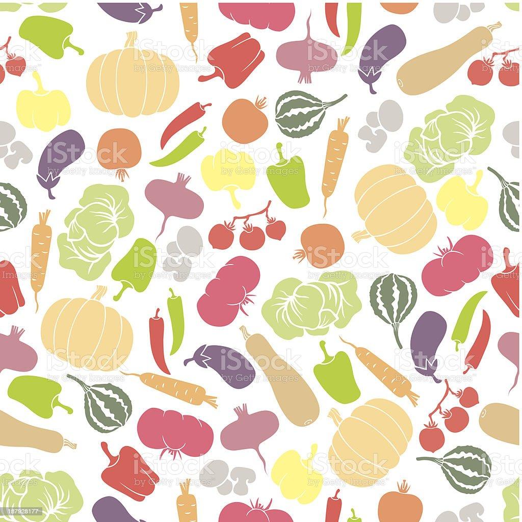 Vegetables seamless pattern royalty-free stock vector art