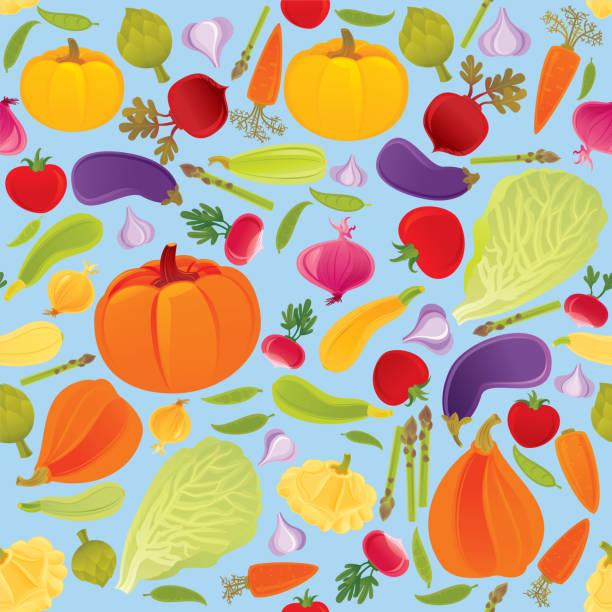 野菜シームレスなパターン ベクターアートイラスト