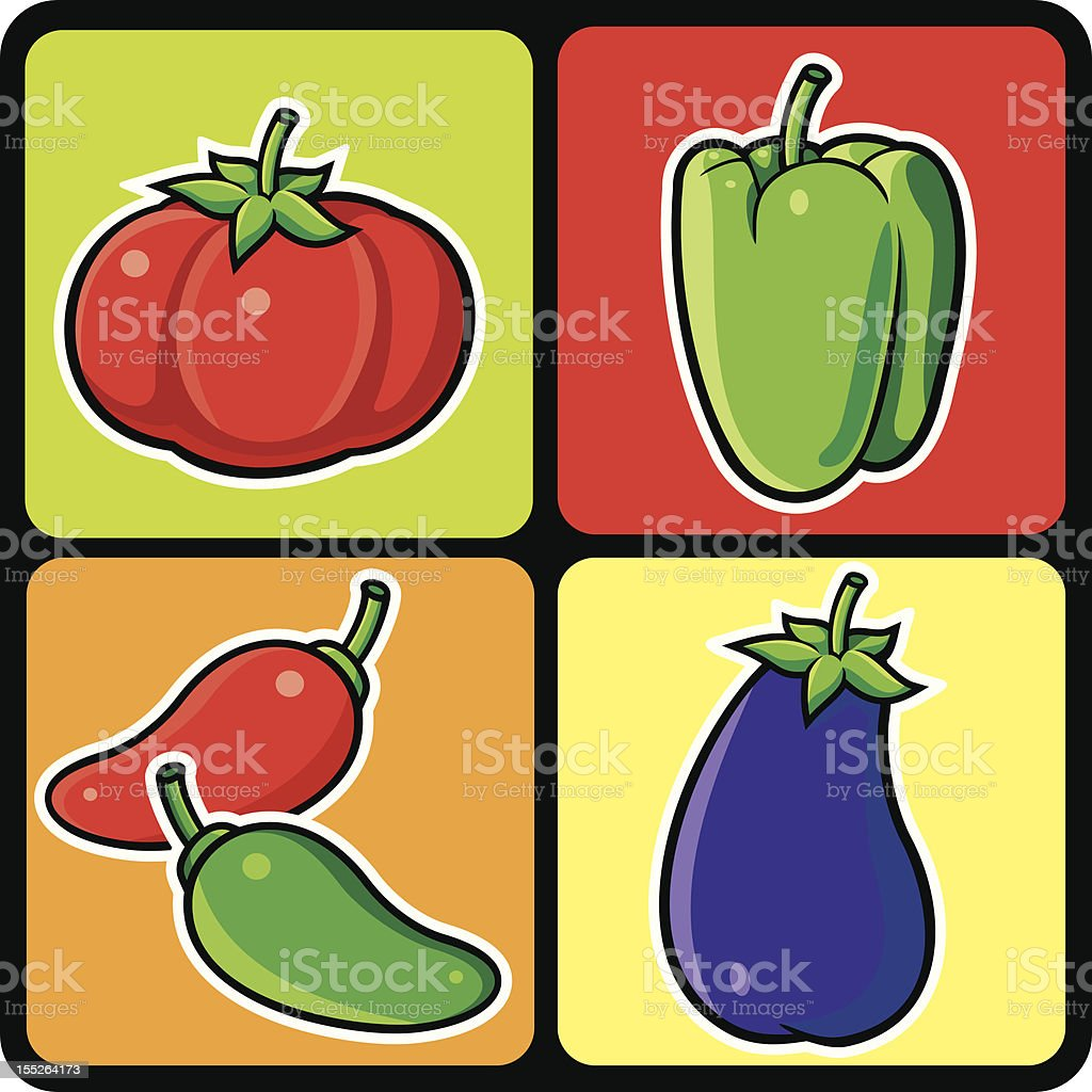 Vegetables royalty-free stock vector art