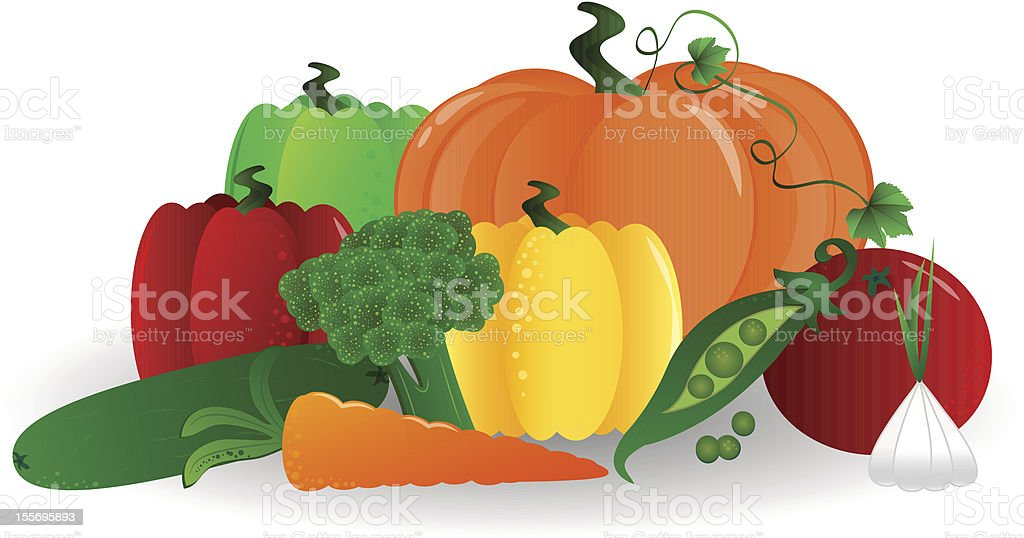 Vegetables royalty-free vegetables stock vector art & more images of broccoli