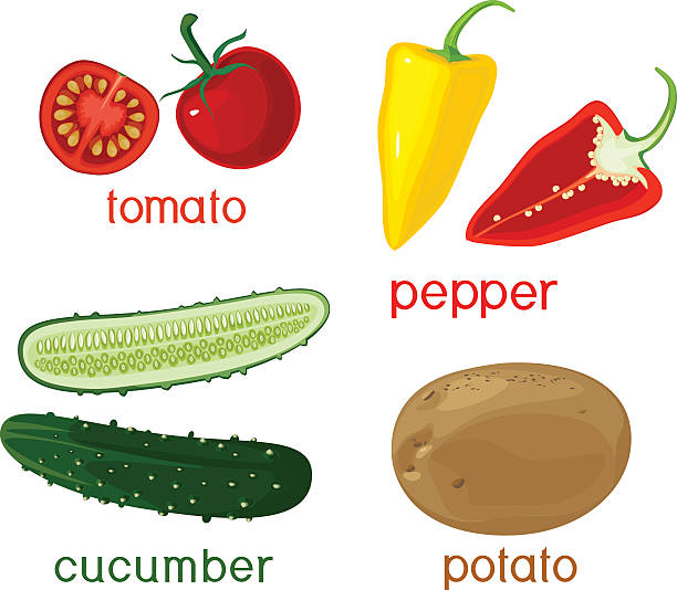vegetables - cherry tomato stock illustrations