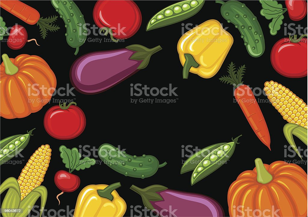 Vegetables royalty-free vegetables stock vector art & more images of backgrounds
