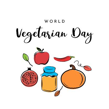 Vegetarian Day poster. Vector