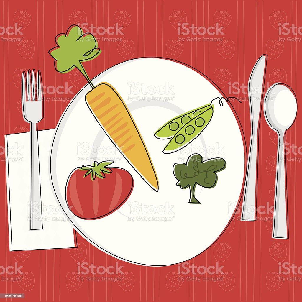 Vegetarian Dining royalty-free stock vector art
