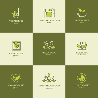 Vegetarian food icons set2