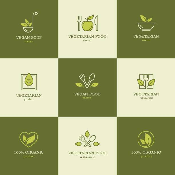 vegetarian food icons set2 - vegetarian stock illustrations, clip art, cartoons, & icons