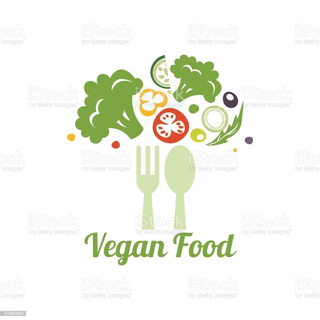 Cucina Vegetariana Simbolo Logo Concetto Di Progettazione Creativo