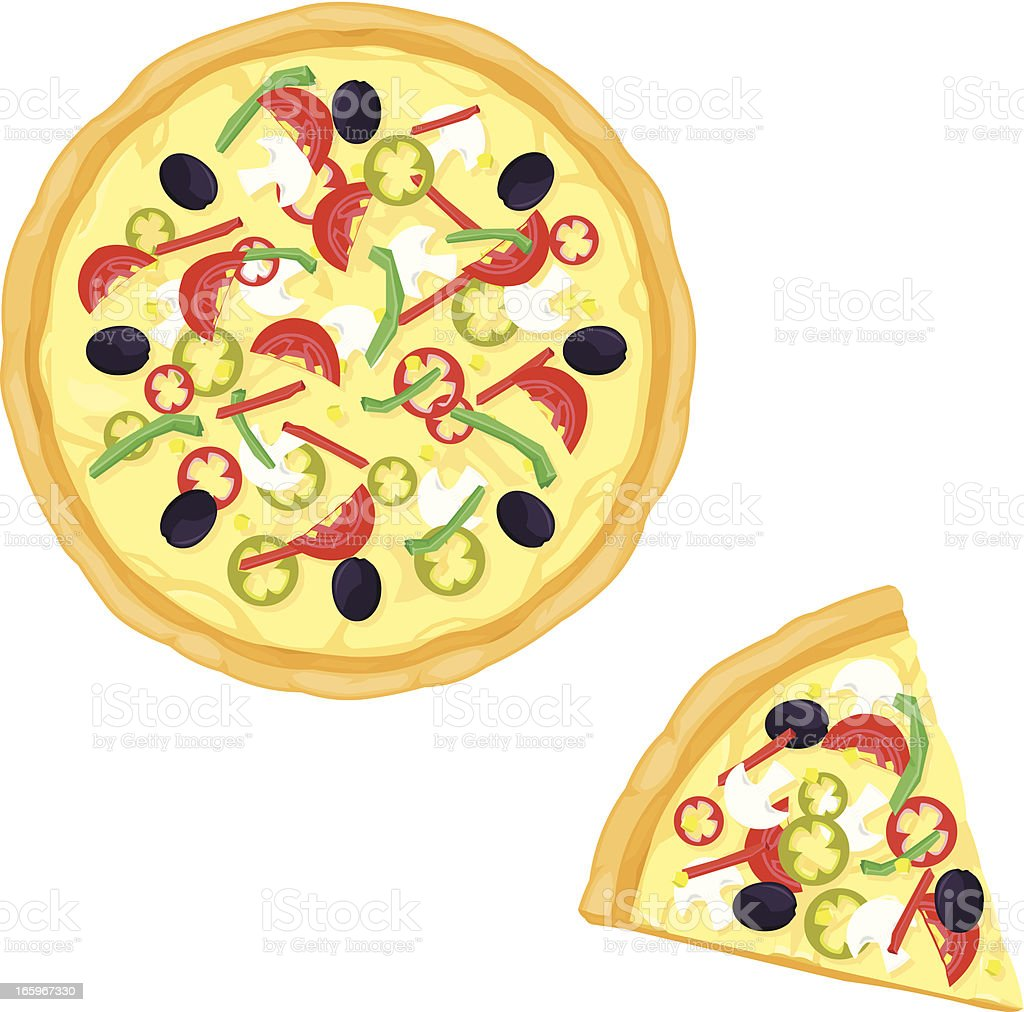 Vegetarian Pizza royalty-free vegetarian pizza stock vector art & more images of cheese