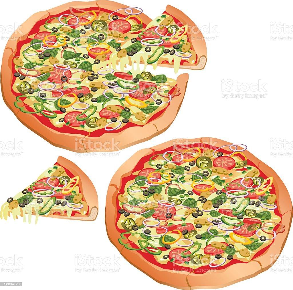 Vegetarian Pizza royalty-free stock vector art