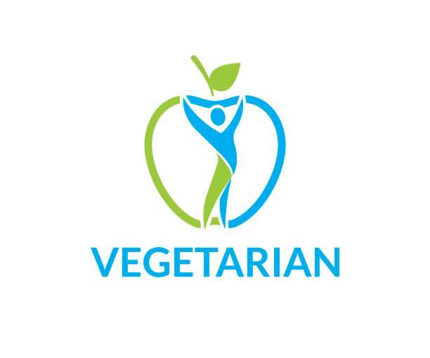 illustrazioni stock, clip art, cartoni animati e icone di tendenza di vegetarian vector icon - runner rehab gym
