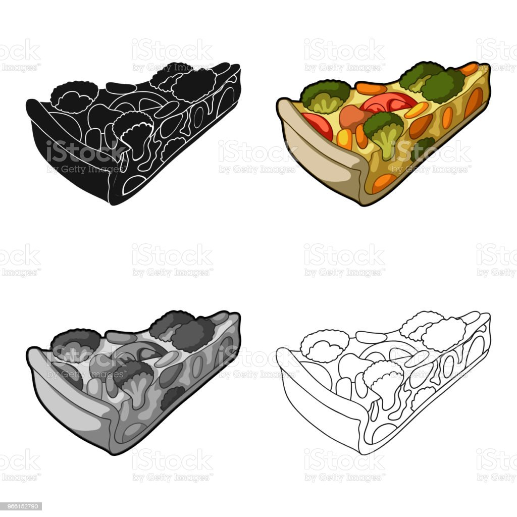 Vegetarian vegetable pie.Pie of vegetables without meat for vegetarians.Vegetarian Dishes single icon in cartoon style vector symbol stock web  illustration. - Royalty-free Abstrato arte vetorial