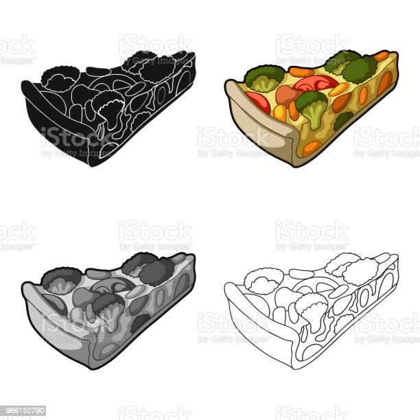 Vegetarisk Grönsakspaj Paj Med Grönsaker Utan Kött För Vegetarianer Vegetariska Rätter Enda Ikonen I Tecknad Stil Vektor Symbol Lager Web Illustration-vektorgrafik och fler bilder på Abstrakt