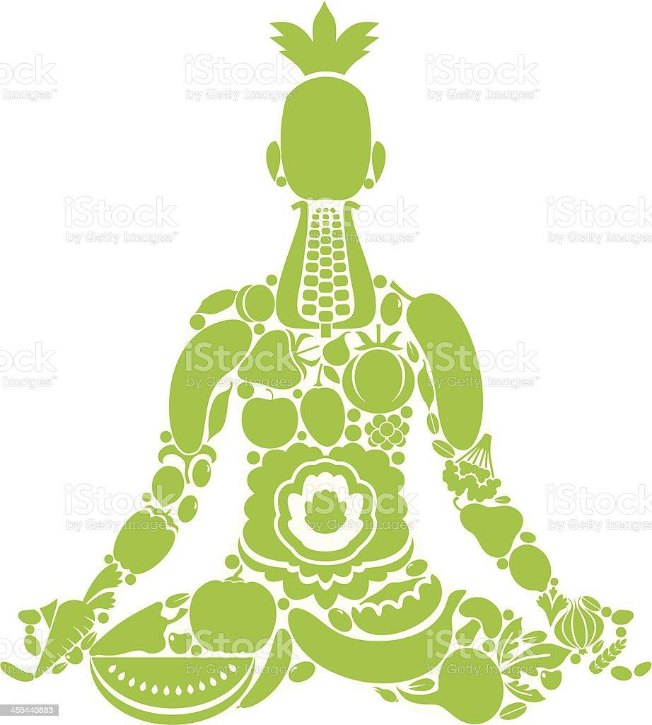 Vegetarian yoga royalty-free stock vector art