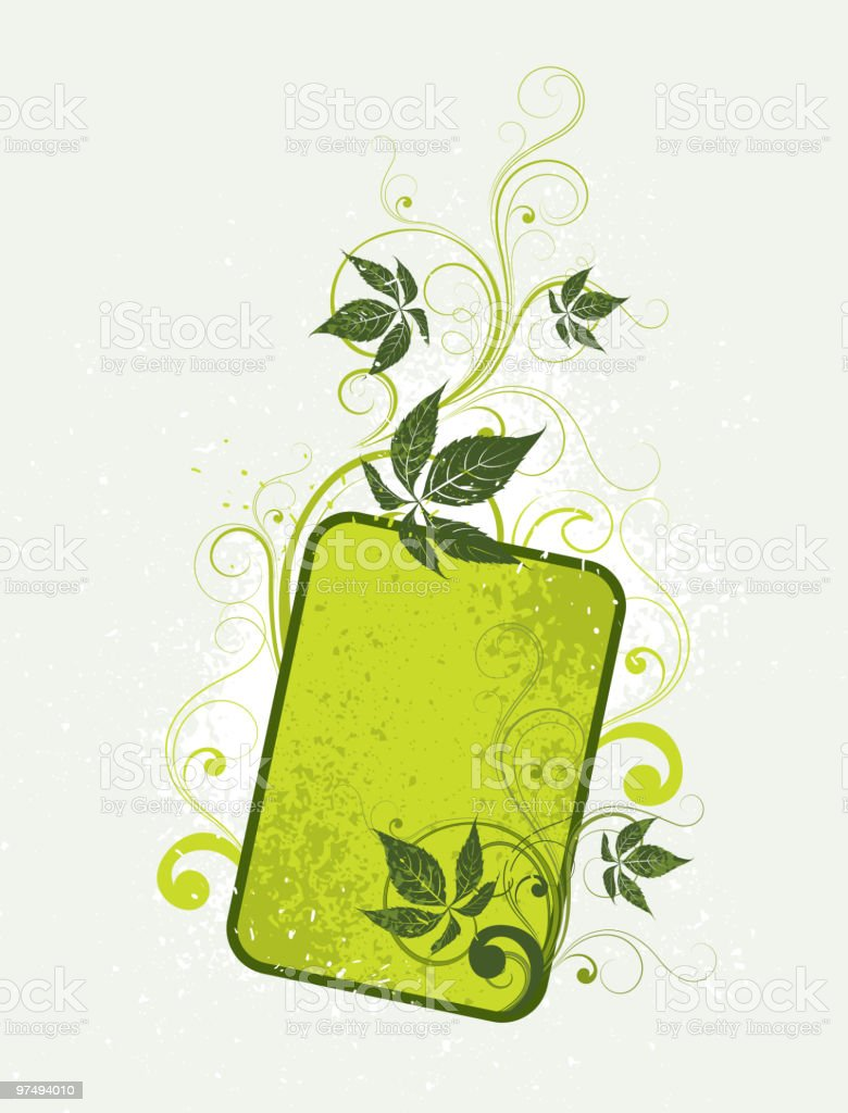 Vegetative composition for your text royalty-free vegetative composition for your text stock vector art & more images of abstract