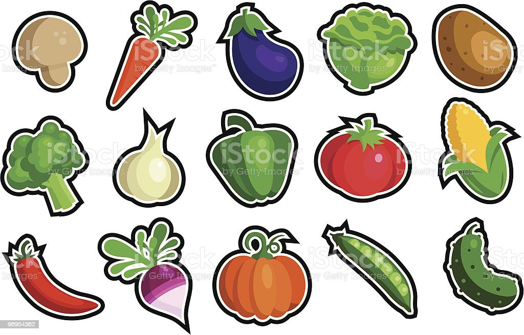 Veggie Icons royalty-free veggie icons stock vector art & more images of broccoli