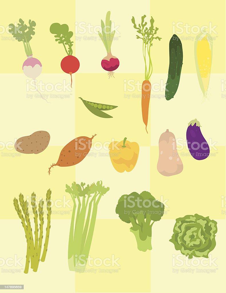 Veggies royalty-free stock vector art