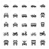 vehicle and transport filled icon style vector illustration on white background