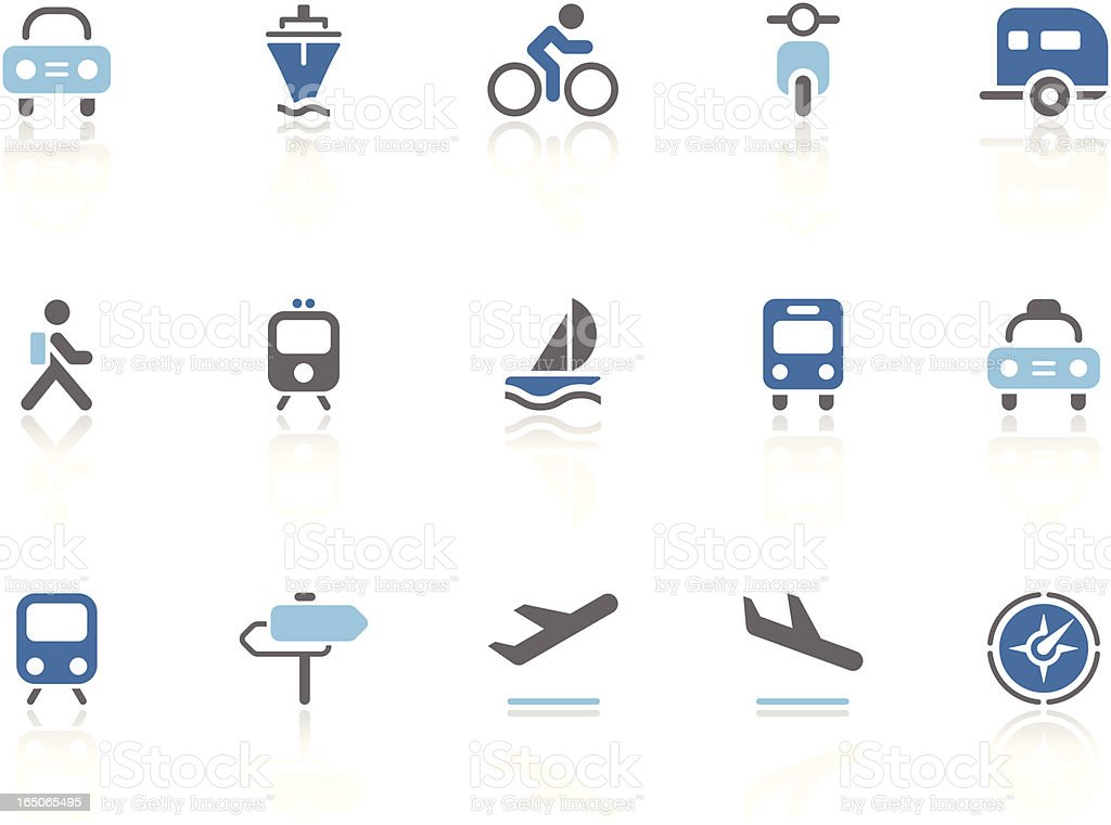 Vehicle and Transport icons   azur series royalty-free stock vector art
