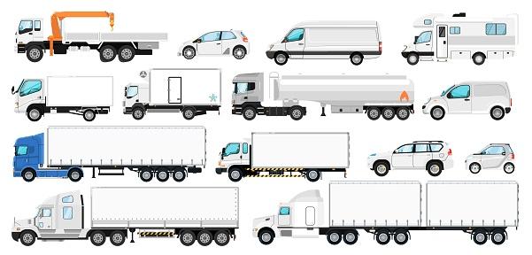 Vehicle branding set. Transport template