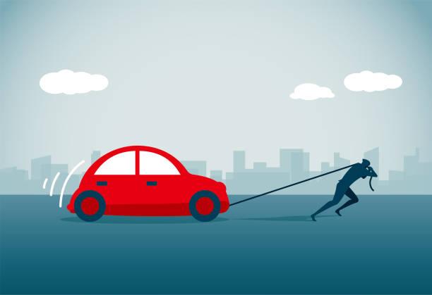 Vehicle Breakdown vector art illustration