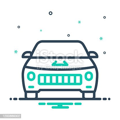 Icon for vehicle, conveyance, carriage, transportation, automobile, car, cabriolet, travel