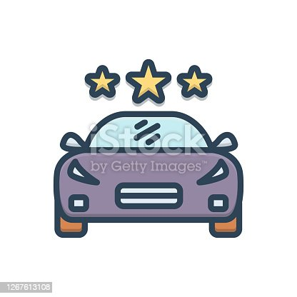 Icon for vehicle, conveyance, carriage, transportation, car