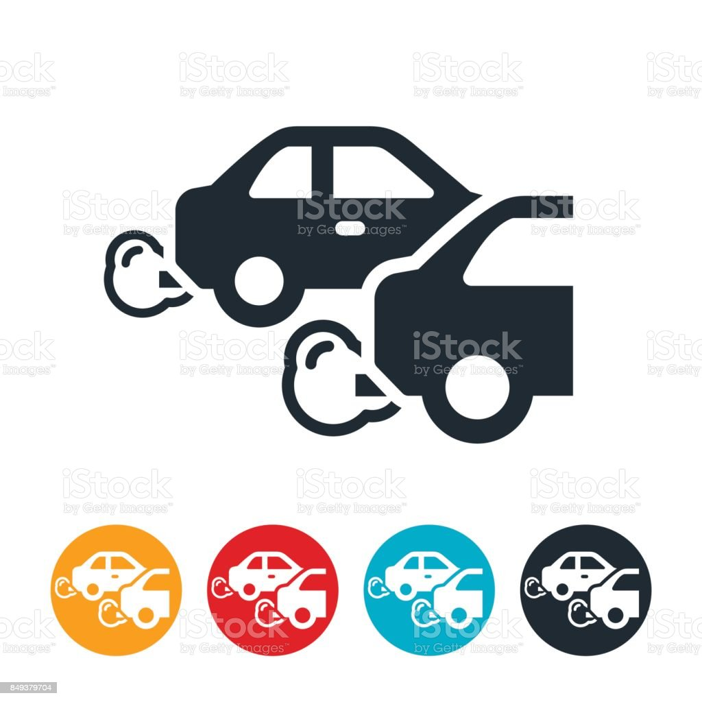 Vehicle Emissions Icon vector art illustration