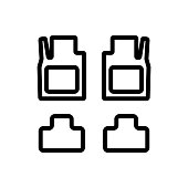 vehicle flooring icon vector outline illustration