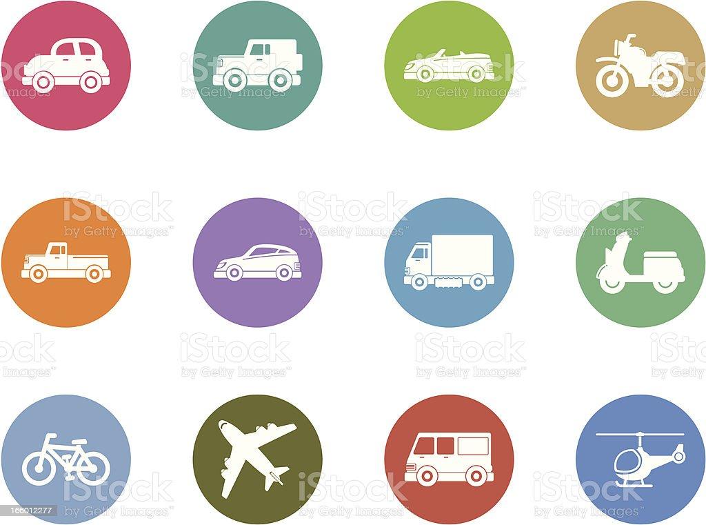 vehicle icon set royalty-free stock vector art