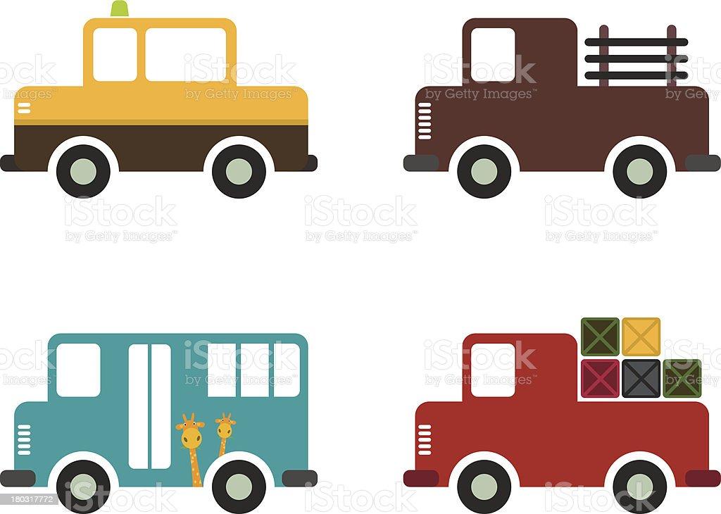 Vehicle icon royalty-free stock vector art