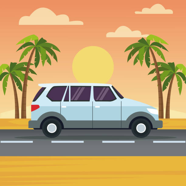 Royalty Free Jeep Beach Clip Art, Vector Images ...