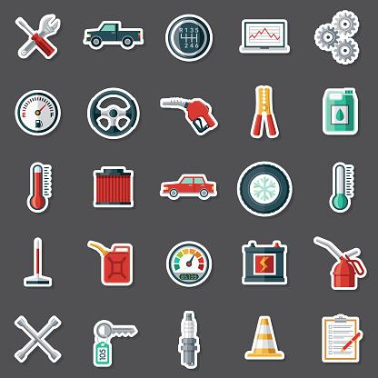 Vehicle Maintenance Sticker Set