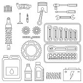 Vehicle parts with tools