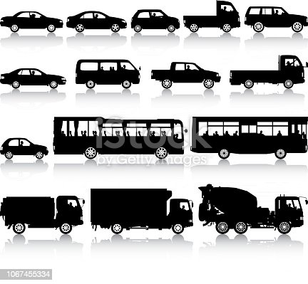 Vehicle silhouettes.