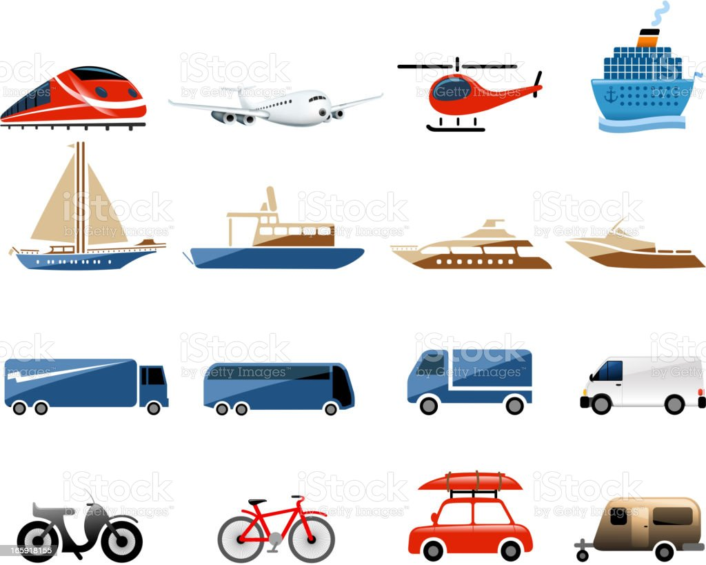 vehicle symbols royalty-free stock vector art